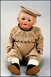 When World War I broke out, the Japanese filled the void when dolls were no longer available from France and Germany. This doll is an example of one of them. The quality of Nippon dolls is very high and examples are getting harder to find each year.